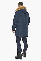 Куртка – воздуховик темно-синій утеплений чоловічий зимовий модель 30551, фото 2