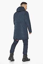Куртка – воздуховик сучасний чоловічий зимовий темно-синій модель 30816, фото 2