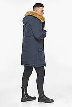 Куртка – воздуховик чоловічий сучасний зимовий темно-синій модель 30118, фото 2