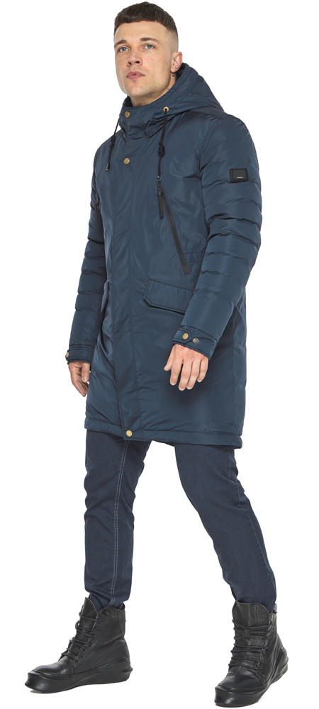 Куртка – воздуховик темно-синій універсальний чоловічий зимовий модель 30773