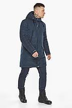 Куртка – воздуховик темно-синій універсальний чоловічий зимовий модель 30773, фото 3
