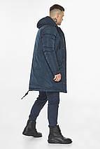 Куртка – воздуховик темно-синій універсальний чоловічий зимовий модель 30773, фото 2