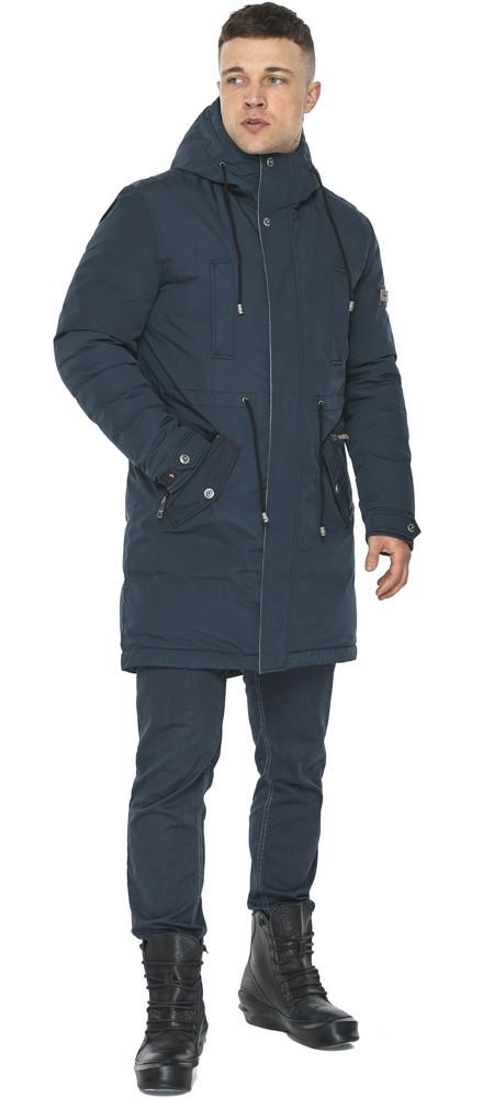 Куртка – воздуховик чоловічий зимовий колір темно-синій модель 30882