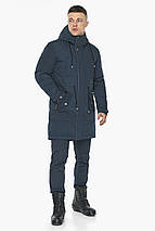 Куртка – воздуховик чоловічий зимовий колір темно-синій модель 30882, фото 2