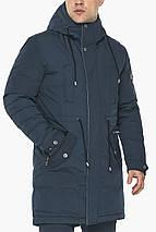 Куртка – воздуховик чоловічий зимовий колір темно-синій модель 30882, фото 3