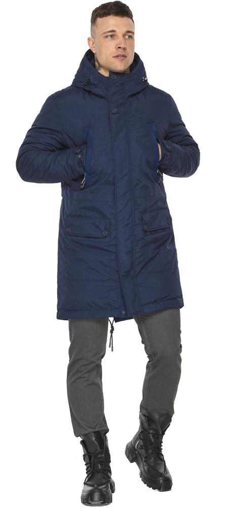 Куртка – воздуховик зручний чоловічий зимовий темно-синій модель 30444