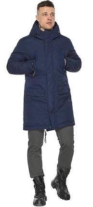 Куртка – воздуховик зручний чоловічий зимовий темно-синій модель 30444, фото 2