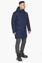 Куртка – воздуховик зручний чоловічий зимовий темно-синій модель 30444, фото 3