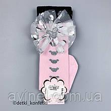 Носки гольфы для девочки Розовые Турция 12-18 (р)