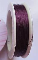 Нить для бисера Фиолетовая 0.1 мм 100 м 1 шт