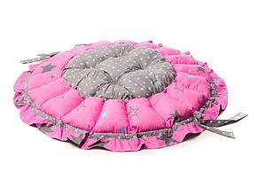 Детский игровой коврик на пол манеж для младенцев Kospa Звезды Rose, фото 2