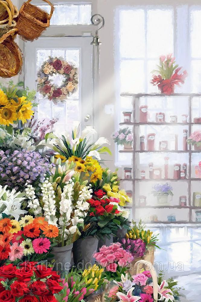"""Набор алмазной вышивки (мозаики) """"Цветочный магазин"""""""