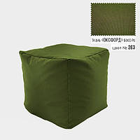 Бескаркасное кресло пуф Кубик Coolki 45x45 Зеленый Оксфорд 600