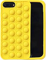 Силиконовый желтый ударопрочный чехол для iPhone 7 Plus - Pop-It (чехол попит) (8CASE)