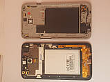 Дисплей + сенсор LG L70 D320 з рамкою orig black б.у, фото 2