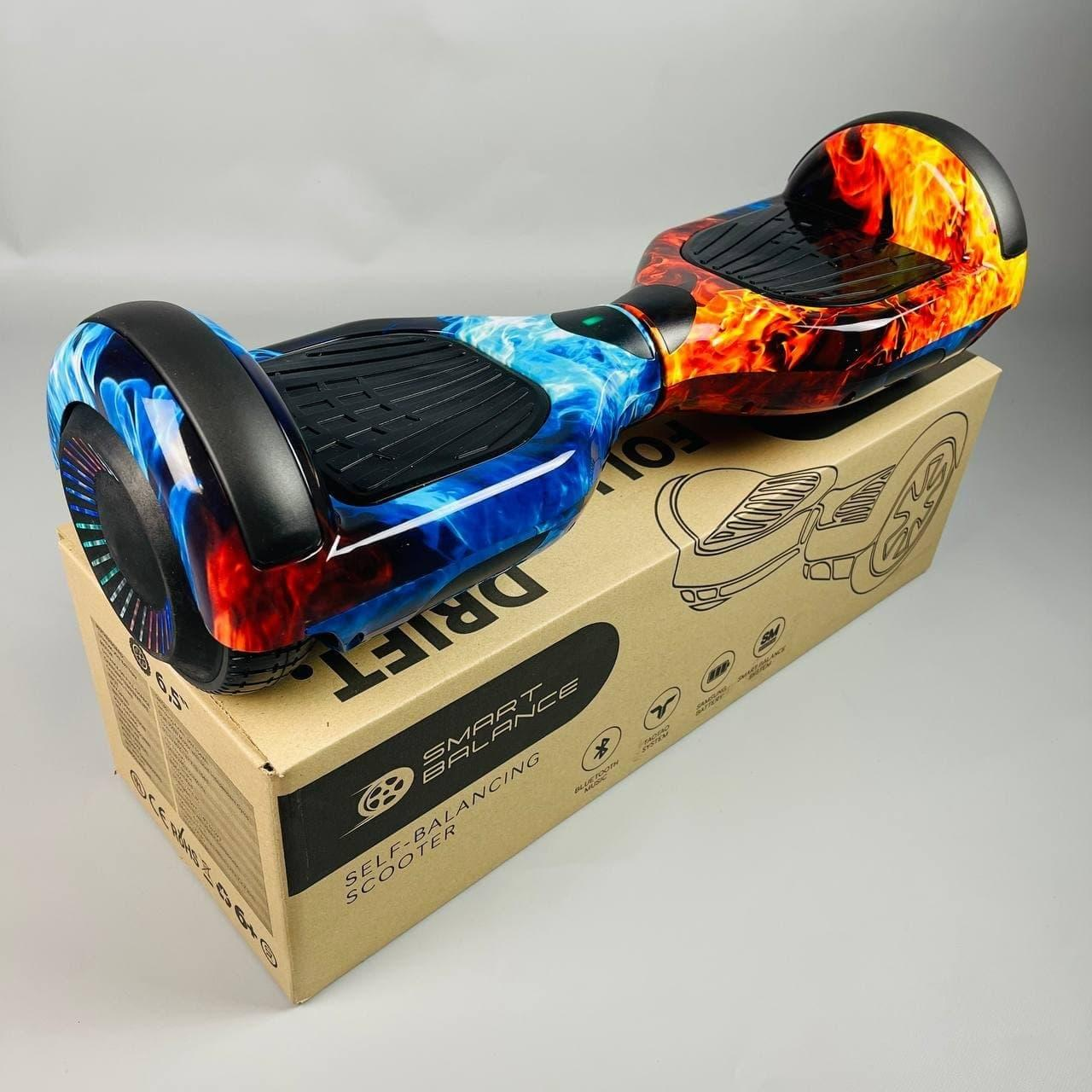 Гироскутер Smart Balance Wheel Pro 6.5 Вогонь і лід самобаланс | Гироборд Смарт Баланс маленький різнобарвний