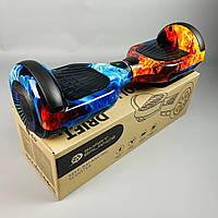 Гироскутер Smart Balance Wheel Pro 6.5 Вогонь і лід самобаланс | Гироборд Смарт Баланс маленький різнобарвний, фото 1