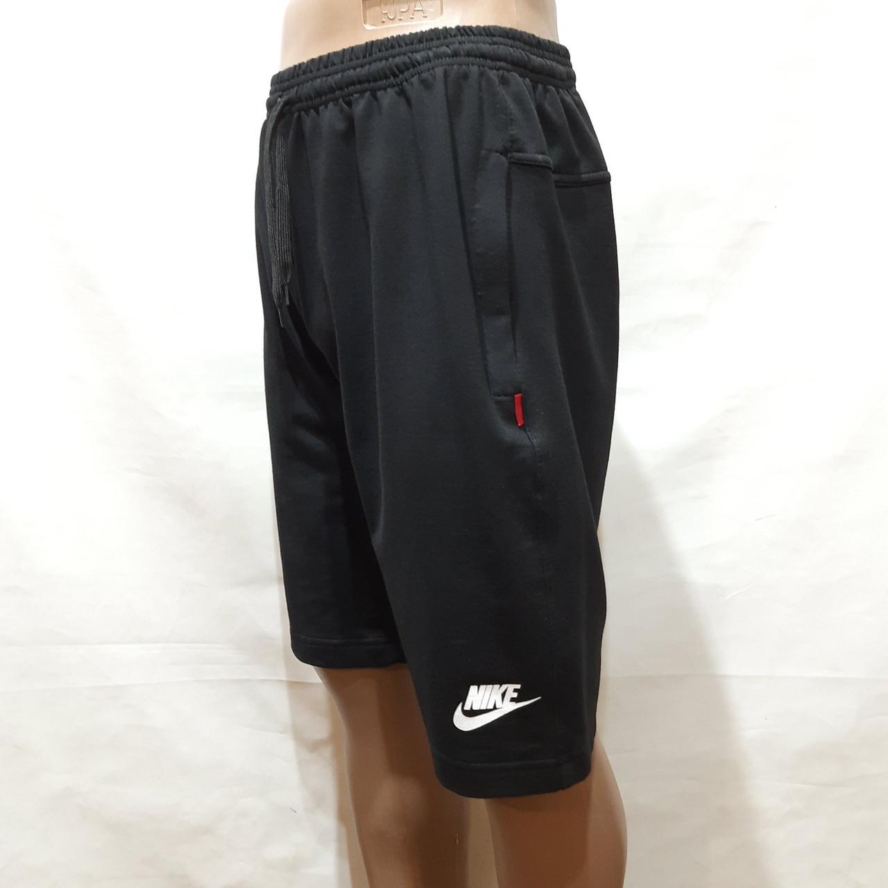 Літні чоловічі шорти Nike Найк (репліка) трикотажні на резинці Чорні