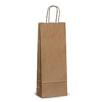 Крафт пакеты (100 г/м2) 12*9*38(печать на пакетах) пакеты для бутылки, упаковка для бутылки, нанесение логотип