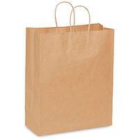 Крафт пакеты 32*15*38 см (90 грамм), крафтовые пакеты (печать на пакетах) бумажные пакеты оптом, бурые пакеты