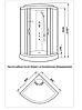 126A /90GJ (90х90 (15)см) - Гидромассажный бокс (гидробокс) KO&PO, фото 2