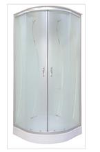 126A  J (90x90) №4(11) - Гидромассажный бокс (гидробокс) KO&POF стекло с рисунком