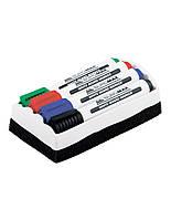 Набор маркеров для магнитных досок в комплекте с губкой