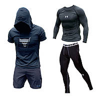 Мужская компрессионная одежда Under Armour : Рашгард, Леггинсы, Шорты, Футболка. Термо костюм