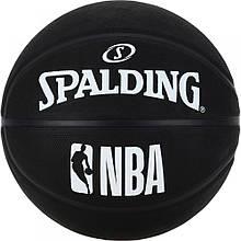 Мяч баскетбольный Spalding NBA Black Size 7 3001500300017, КОД: 2378291