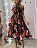 Женское платье стильное в принт,лёгкое , свободное , стильное(42-48)