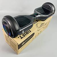 Гироскутер Smart Balance Wheel 6.5 Карбон для взрослых с самобалансом   Гироборд Смарт Баланс черный маленький, фото 1