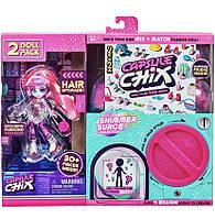 Capsule Chix новинка , 2 в 1 . Кукла и множество аксессуаров
