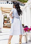 Літнє плаття принтована з коротким рукавом у великих розмірах під пояс (р. 50-60) 11552, фото 3