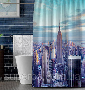 Тканинна шторка для ванни і душа 180х200 см New York