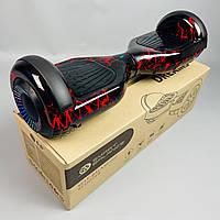 Гироскутер Smart Balance Wheel 6.5 Черно красный с самобалансом | Гироборд Смарт Баланс маленький для взрослых