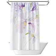 Тканинна шторка для ванни і душа 180х200 см Flower rhapsody, фото 3