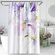 Тканинна шторка для ванни і душа 180х200 см Flower rhapsody, фото 2