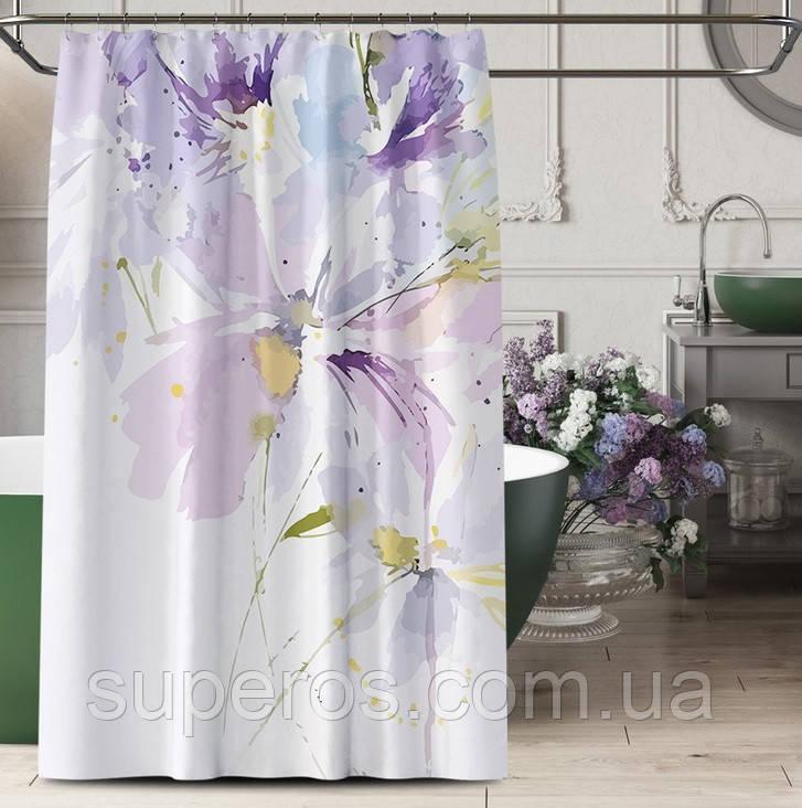 Тканинна шторка для ванни і душа 180х200 см Flower rhapsody