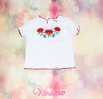 Вышиванка для девочки с коротким рукавом кулир-пенье