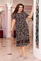 Женское летнее платье свободного кроя с сеткой миди, фото 1
