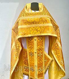 Облачение руск стиль желтое шелк 52р. 155 рост и 50р. 155рост