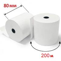 Кассовая лента 80 мм на 200м термо  Чековая бумага для кассовых аппаратов, втулка 25мм КЛТ.80tх200х25