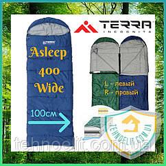 Спальник одеяло туристический Terra Incognita Asleep 400 Wide (ширина 100 см) Синий