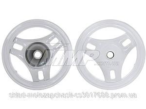 Диск колеса (передний) HONDA DIO 50 (железный, серый+ подшипник)