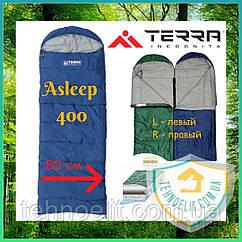 Спальник одеяло туристический Terra Incognita Asleep 400 Синий, 80