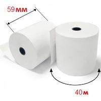 Кассовая лента 59 мм на 40м термо  Чековая бумага для кассовых аппаратов КЛТ.59tх40