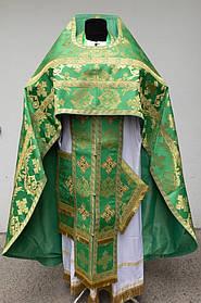 Облачение священника (Шелк) зеленое 54размер 155 рост