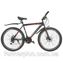 Велосипед SPARK FORESTER 26-ST-20-ZV-D (Чорний з червоним)