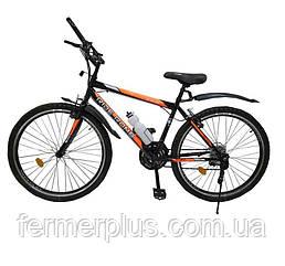 Велосипед SPARK RIDE ROMB V. 21 26-ST-18-ZV-V (Чорний з оранжевим)