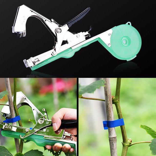 Посилений степлер садовий Tape Tool ТАПЕНЕР для Підв'язування Дерев Рослин Овочів Квітів Tapetool Ручної +25М